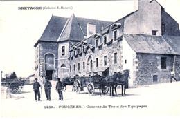 CPA Fougetres Caserne Du Train Des équipages - Fougeres