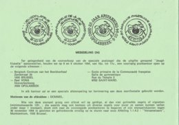 België - Dienstpostkaart - Brussel/Opglabeek/Saint-Mard - Dommel - (1994) - Storia Postale
