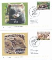 GERMANY Mi. Nr. 3288-3289 Tierbabys - FDC - FDC: Covers
