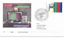 GERMANY Mi. Nr. 3329 50 Jahre Farbfernsehen - FDC - FDC: Covers