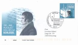 GERMANY Mi. Nr. 3332 250. Geburtstag Von August Wilhelm Schlegel - FDC - FDC: Covers