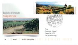 GERMANY Mi. Nr. 3336-3337 Badische Weinstraße Im Markgräflerland- FDC - FDC: Covers