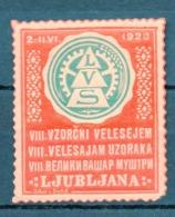 1927 SLOVENIA,  LJUBLJANA, VZORCNI VELESAJEM, PATTERN FAIR, POSTER STAMP - Slovenia