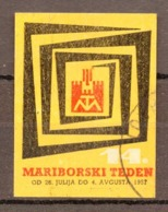 1957 SLOVENIA, MARIBOR, MARIBOR WEEK, POSTER STAMP - Slovenia