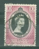 Malaya - Malacca: 1953   Coronation     Used - Malacca