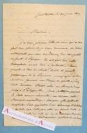 Superbe L.A.S 1839 Général De GALBOIS Gouverneur CONSTANTINE Né Rennes Abd El Kader Philippeville Lettre Algérie - Autographes
