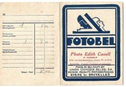 Pochette De Photos (vide)  *  Fotobel  (Photo Edith Cavell, H. Kessels, Rue Vanderkindere, 344,   Uccle) - Fotografie En Filmapparatuur