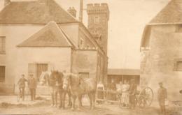 91 Limours, Rare Carte Photo, Intérieur De La Ferme Du Pommeret, Attelage - Limours