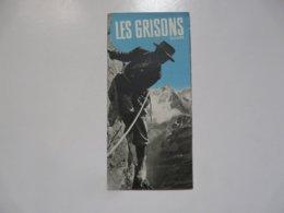 VIEUX PAPIERS - DEPLIANT TOURISTIQUE : Les Grisons - Suisse - Dépliants Turistici