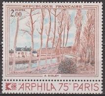 Art - Peinture - Impressionnisme: Sisley: Canal Du Loing - FRANCE - N° 1812 ** - 1974 - France