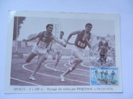 ATHLETISME  SPORTS DANS LE TIMBRE DESERTINES 1972 - Leichtathletik