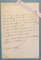 L.A.S 1843 Maréchal Étienne Maurice GERARD Né à Damvillers Général D'Empire - Lettre Autographe LAS - Autógrafos