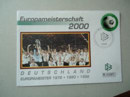 GERMANY FDC  2000 FOOTBALL  GERMANY NAIONAL CLUB - BRD