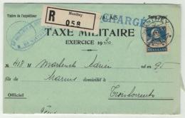 Suisse // Schweiz // Switzerland //  1907-1939 // Document, Taxe Militaire Recommandé Pour Troistorrents - Suisse