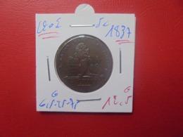 LéOPOLd 1er. 5 Centimes 1837 (A.1) - 03. 5 Céntimos