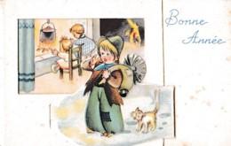 MIGNONETTE A SYSTEME BONNE ANNEE .RAMONEUR A VOIR !!! REF 61503 - Nouvel An