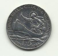 1933 - Vaticano 5 Lire Argento - Anno Santo - Vatican