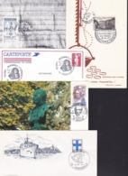 FranceExpositions Philatéiques Histophil Versalles 1992 Egexphil Marseille 1968 Schoelcher Houilles 1993 Paris 1963 - FDC