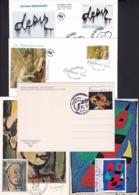FranceLot FDC Peinture Rouault Miro Ernst Renoir Messager - FDC