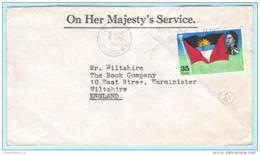 ANTIGUA - Brief Cover 05.04.1967 Lettre - 178 Queen Flagge (27256) - Antigua & Barbuda (...-1981)