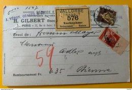 8618 - Helvetia Assise No 135 70/80 Sur Carton Marchandises Remb. Transit Vallorbe Par Véron Grauer Pour Bienne 1916 - Switzerland
