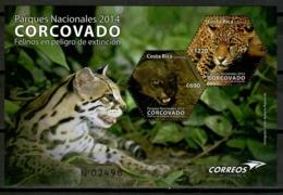 Costa Rica 2014 / Mammals Wild Cats National Park MNH Felinos Säugetiere / Cu14836  1-7 - Felinos