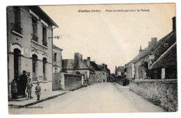 Sarthe CHALLES Poste Et Entrée Par Route De Volnay (petite Animation) - Otros Municipios