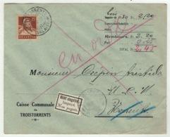 Suisse // Schweiz // Switzerland //  1907-1939 // Lettre De La Caisse Communale De Troistorrents - Suisse