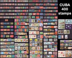 Cuba LOT**/*/ (o)  +- 400 Timbres Départ 1€ ! ! ! - Cuba