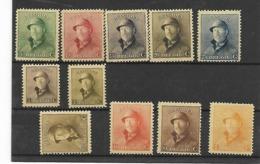 België  N° 165/175  Xx Postfris Cote 170 Euro 1Fr 2 Korte Tanden - 1919-1920 Trench Helmet