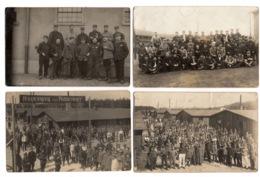 MILITARIA - Lot De 16 Cartes Photos Prises Dans Des Camps De Prisonniers Français - War 1914-18