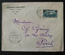 Enveloppe Avec Cachet De Tripoli.Pour Paris - Gran Líbano (1924-1945)