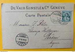 8646  - De Vaud Kunstlé & Cie Genève 20.12.1899 - GE Genève