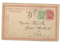 Sterstempel/cachet étoile / Relais  * DEFTINGE * 26.VIII.1921 Op Postwaarde/Entier 10ct + 5ct Bijfrank. - 1915-1920 Albert I