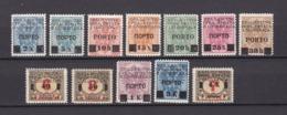 Jugoslawien - Ausgaben Für Bosnien U. Herzegowina - Portomarken - 1919 - Michel Nr. 14/23+25/26 - Ungebr./Postfrisch - Ungebraucht