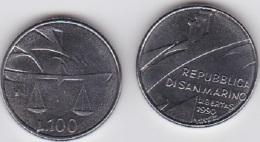 San Marino - 100 Lire 1990 UNC Lemberg-Zp - San Marino