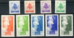 """LIBAN N° 109 à 117 Série Complète """"cèdre"""" Et """"Grotte De Jeita"""" 9 Valeurs Neuves Sans Charnières ** (MNH). TB Cote 28 € - Lebanon"""