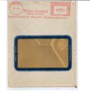 1954 EMA Affrancatura Meccanica Rossa Freistempel Milano Mario Alberti Carboni Fossili - Affrancature Meccaniche Rosse (EMA)
