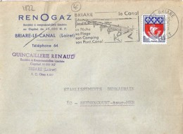 45 . LOIRET . 45/BRIARE . OBL. TYPE SECAP . 1968 - Mechanical Postmarks (Other)