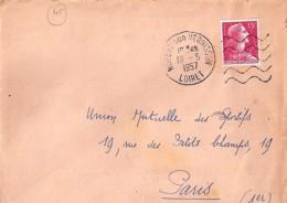 45 . LOIRET . NOGENT SUR VERNISSON . OBL. TYPE DAGUIN. 1957 - Postmark Collection (Covers)