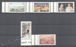 Palestine 1995 Yvert 34-38, Christmas - Palestinian Authority - MNH - Palestina