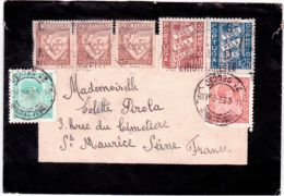 1939- Enveloppe De Deuil Très Bel  Affranchissement  Composé  Pour La France - 1910-... République