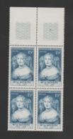 FRANCE / 1950 / Y&T N° 874 ** : Mme De Sévigné X 4 En Bloc Dont 2 BdF Haut - Gomme D'origine Intacte - France