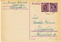 ALLEMAGNE, Bi Zone  En 1946, Entier Avec Complément  TB - Zone Anglo-Américaine