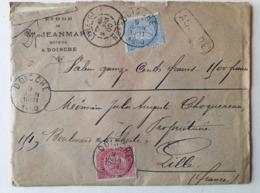 Lettre - ASSURÉ - Barbe Fine - 9/06/1900-1000 Fr Doische  Bruxelles Lille Gare - Unclassified