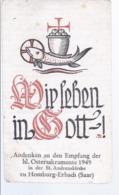 AK-div.29- 468 -  Andachtsbild Homburg Erbach (Saar) - Devotion Images