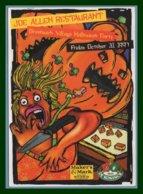 CP Cart Com Halloween Night Joe Allen Restaurant Paris 01 (non écrite ) Illustrateur Anguelidis - Halloween