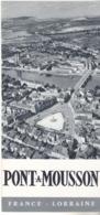 DEPLIANT TOURISTIQUE PONT A MOUSSON EN LORRAINE     VOIR LES SCANS  ANNEE 1959 - Dépliants Touristiques