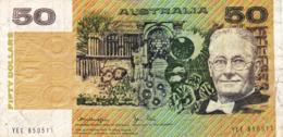 "AUSTRALIA 50 DOLLARS ND 1979 G-VG P-47c ""free Shipping Via Registered Air Mail"" - 1974-94 Australia Reserve Bank"