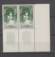 FRANCE / 1950 / Y&T N° 875 ** : Madame Récamier X 2 En Paire En CdF Inf D - Gomme D'origine Intacte - France